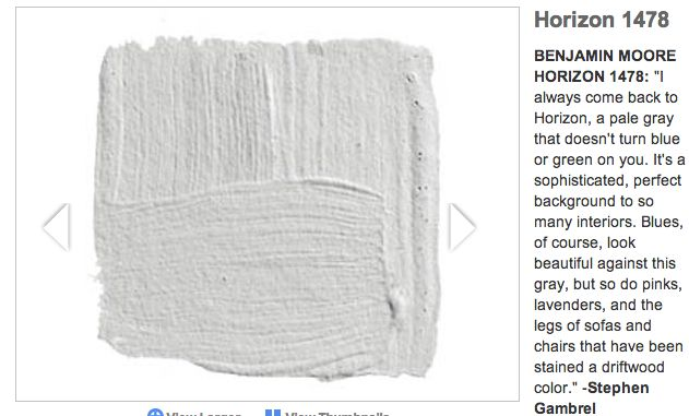 Benjamin moore horizon doesn 39 t turn blue or green paint for Horizon benjamin moore grey
