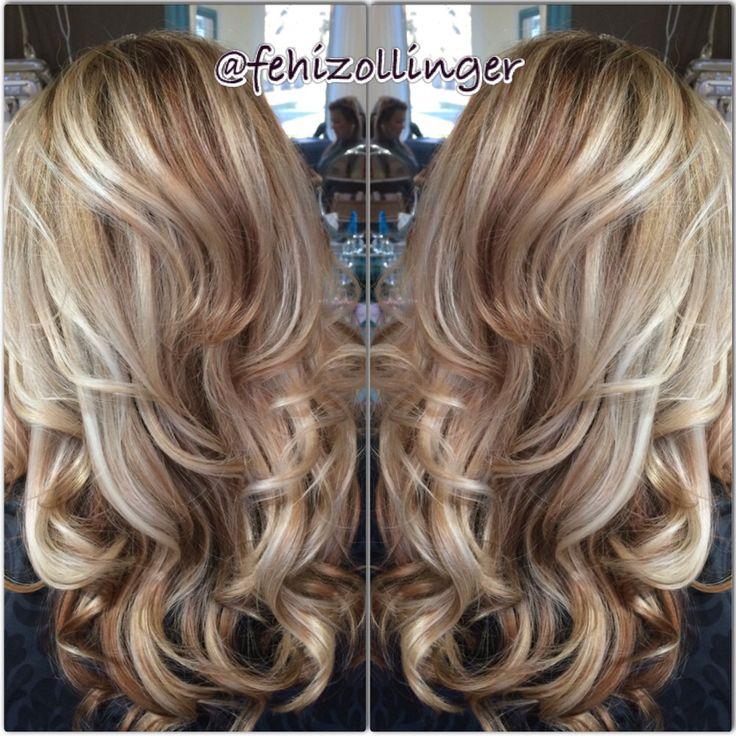 Blonde Highlight And Lowlight Fehizollinger Hairbyfehi