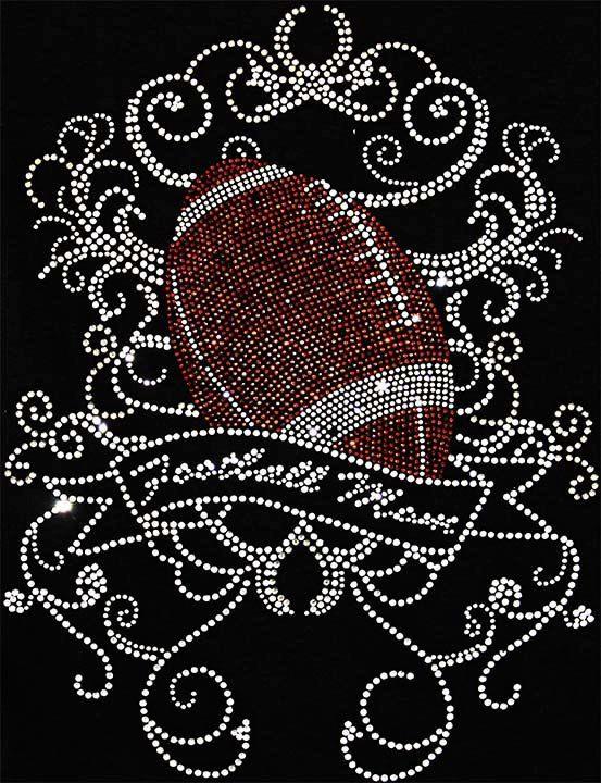 FootBall Mom Scroll Bling Design by BlingIsMyThing2012 on Etsy, $25.00