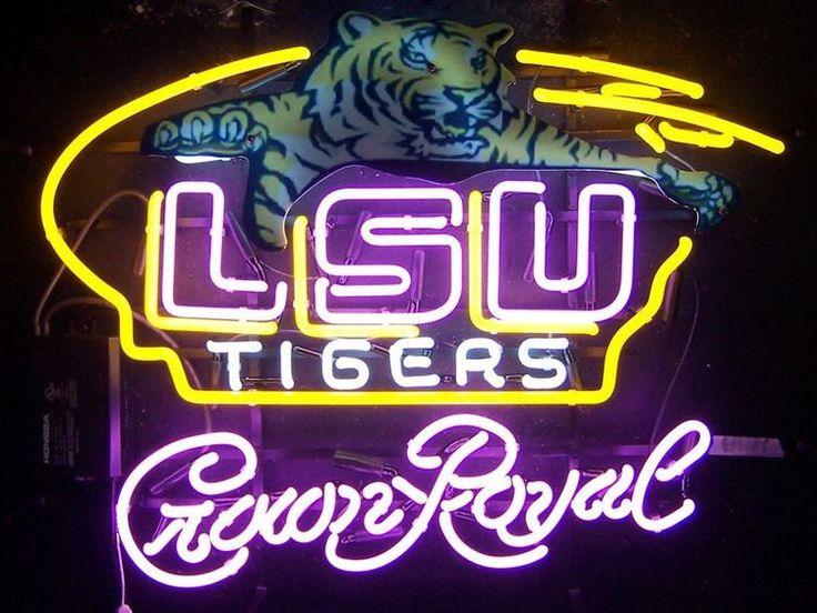LSU Crown royal Neon Sign Louisiana State University NCAA Neon Light