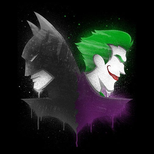 Batman Joker Silhouette – Pop Up Tee