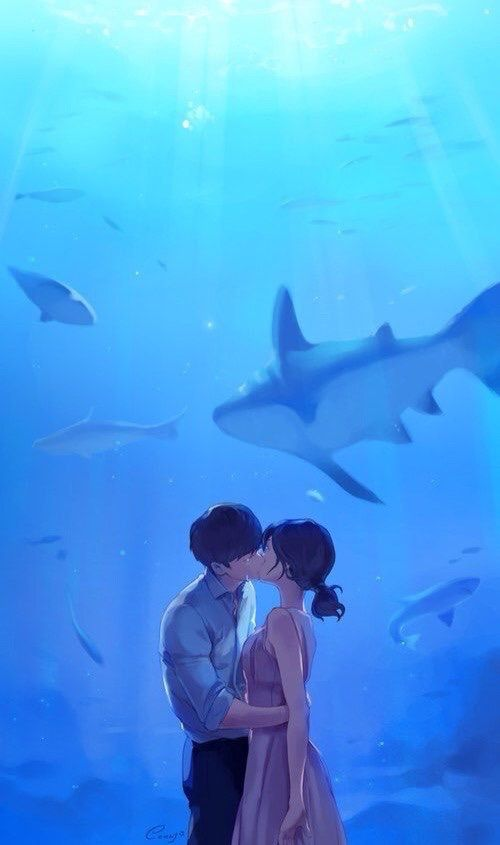 kiss, i hear your voice, and art image