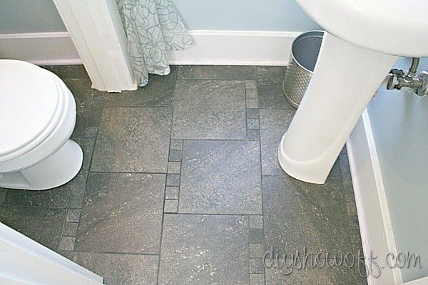 Powder Room Before And After Makeover Tile Patterns