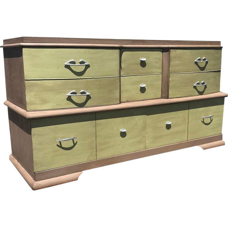 Best Mid Century Modern Solid Wood 8 Drawer Lowboy Lowboy 400 x 300