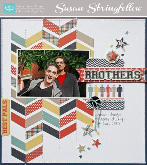 Brothers Layout from Brothers Mini Theme, #echoparkpaper