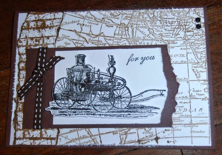 BaRb'n'ShEll Creations - Whimsy Stamps - Steampunk Travels - made by Shell