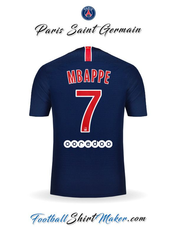 Camiseta Paris Saint Germain 2018 19 Mbappe 7  b6c5051265bb3