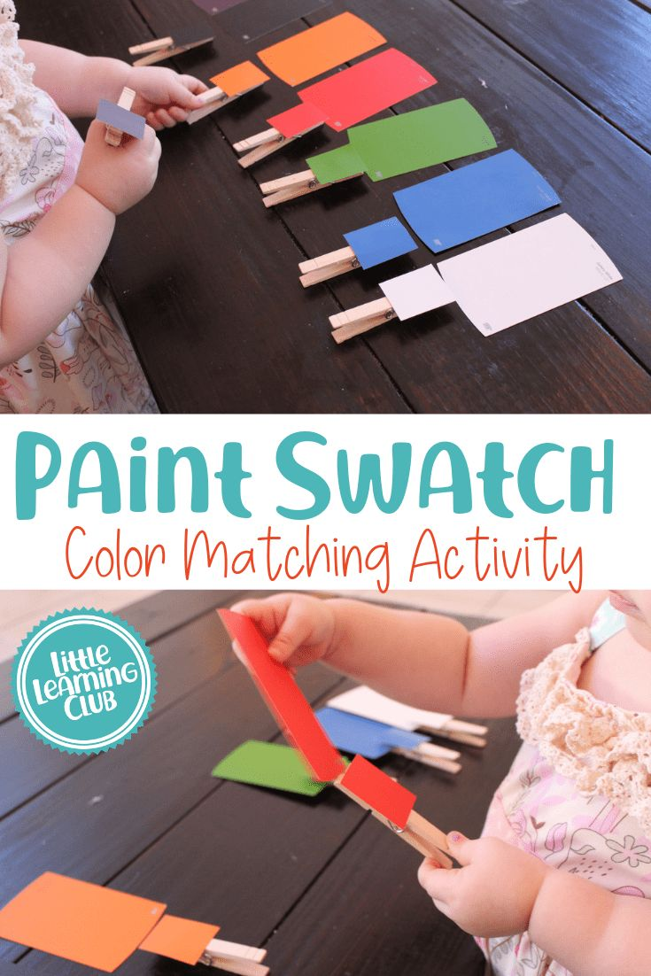 Paint Swatch Matching Game. Color matching activity for toddlers. Toddler activities for day care and at home! Great for babysitting too! Easy educati…