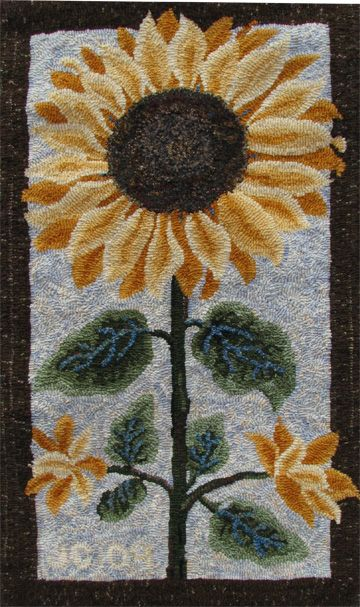 Sunflower 13 x 23- love the way the flower spills into the border.