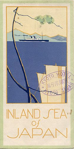 "Travel brochure ""Inland Sea of Japan,"" circa 1930. Soyouthinkyoucansee, Published by the N.Y.K Line."