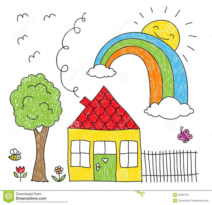 house drawing for kids kid s drawing of a house - Kids Drawings