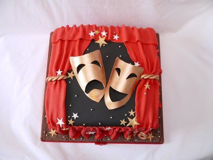 Comedy And Tragedy Theatre Cake By Hellobabycakes Cakesdecorcom
