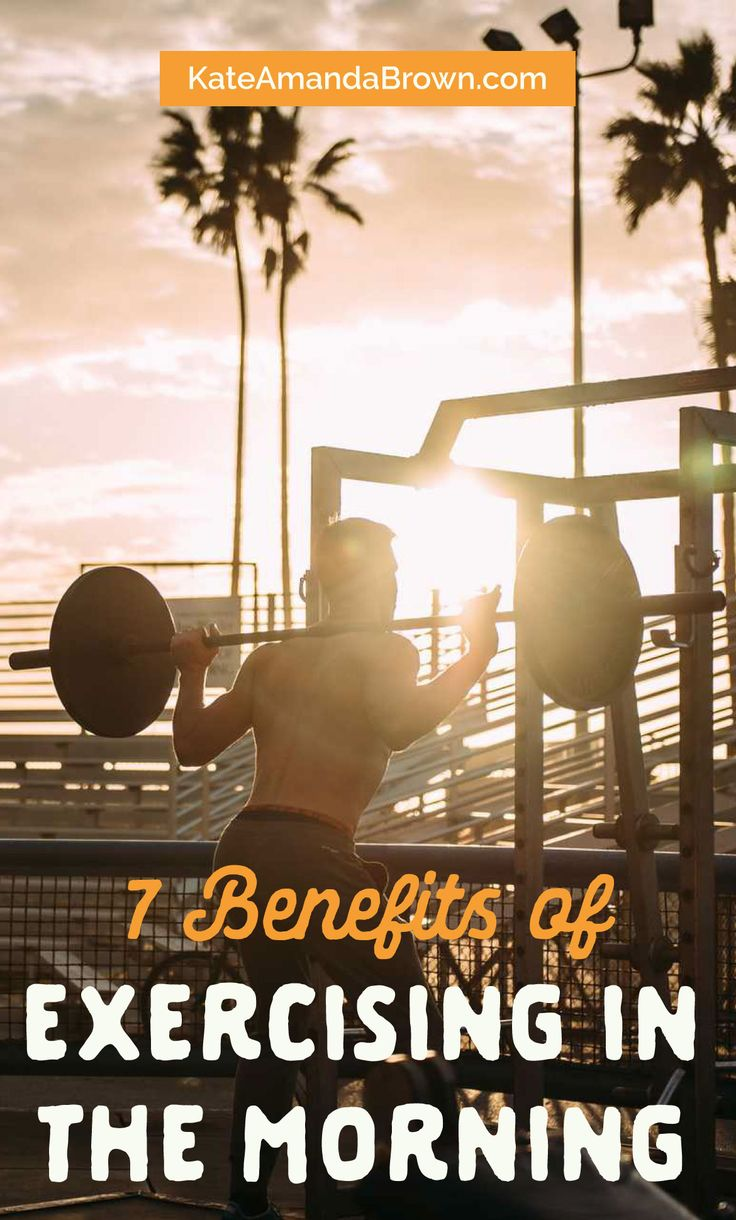 Can the same workout done at a different time give you different results? Find out in this article on the 7 benefits of exercising in the morning | Kate Amanda Brown | morning workout, benefits of exercise, fitness tips, healthy lifestyle