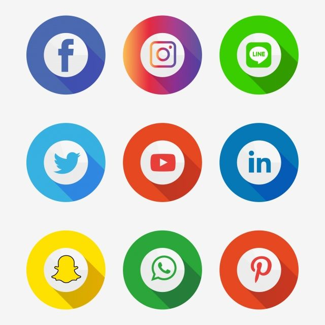 Social Media Icons Set Logo Vector Illustrator Social Icons Logo Icons Media Icons Png And Vector With Transparent Background For Free Download Social Media Icons Social Icons Media Icon