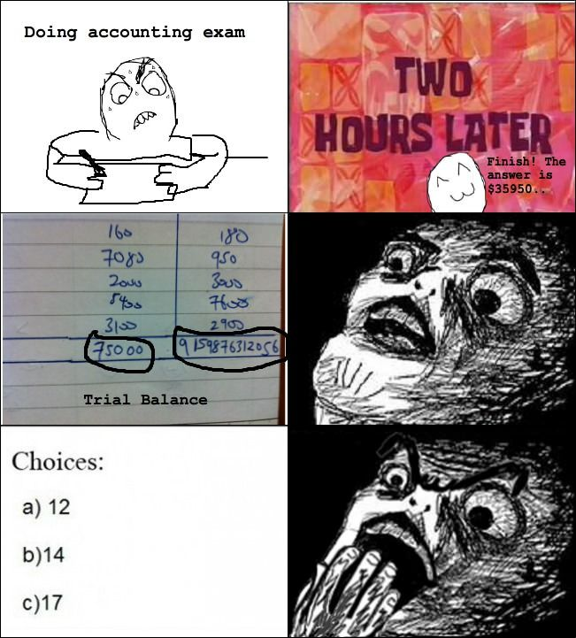 As an Accounting student, this is all too familiar.
