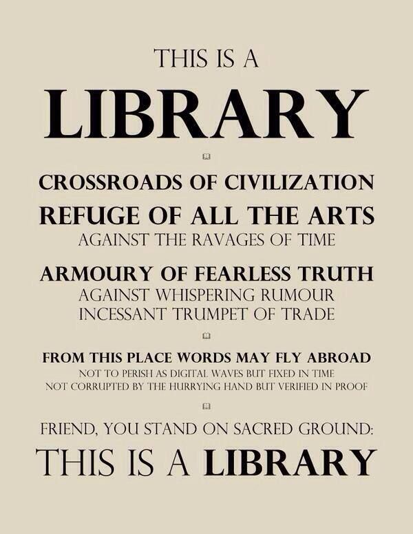 This is a library!