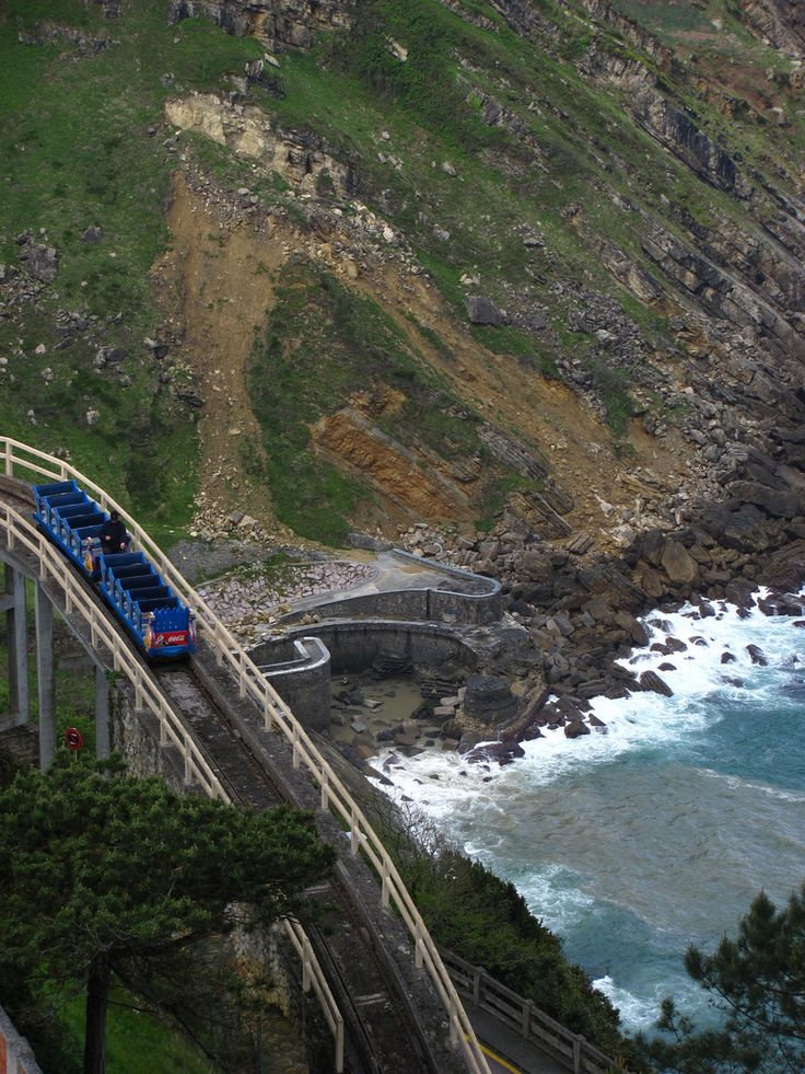 Igueldo Mountain Roller Coaster in San Sebastian, Spain