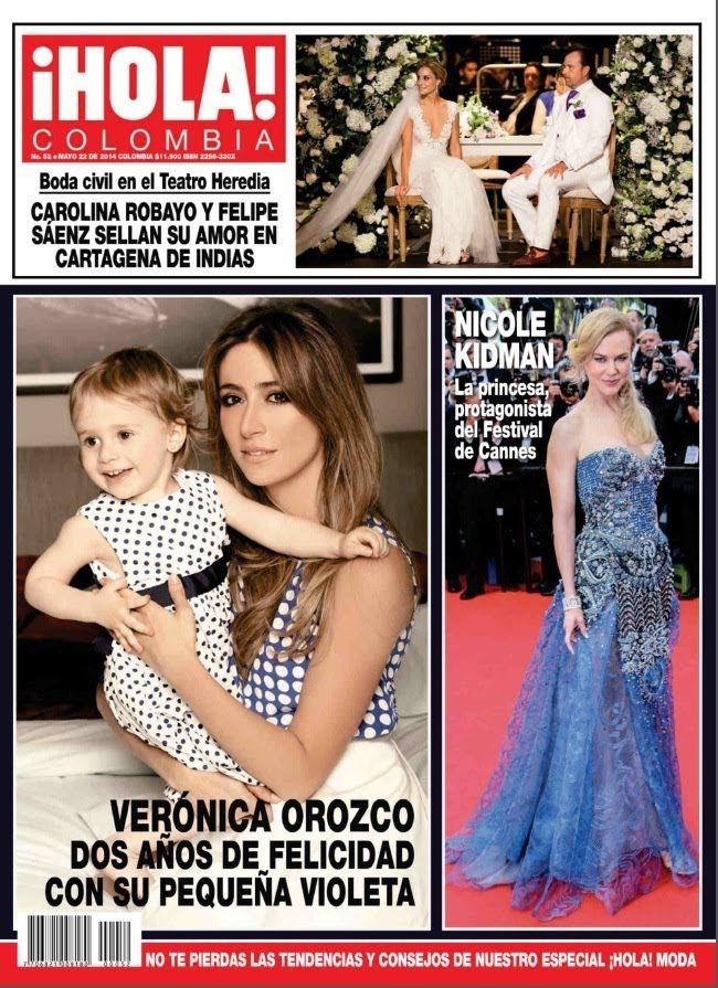 revista hola colombia veronica orozco 2 años de felizidad con su pequeña...
