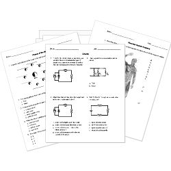 Printable Science Worksheets for K-12 Biology, Earth Science, Chemistry, Physics, and Astronomy practice, review, and assessment.