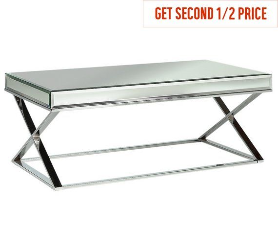 Home Piazzo Mirrored Top Coffee Table | Table, Living room ...
