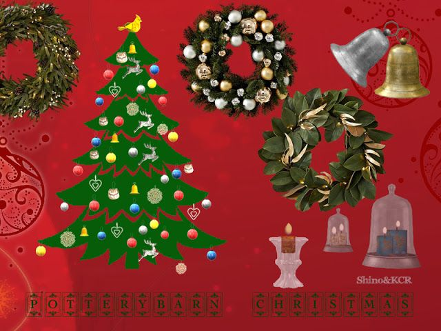 Decorazioni Natalizie The Sims 4.Sims 4 Cc S The Best Potterybarn Christmas Decor Set By Shinokcr