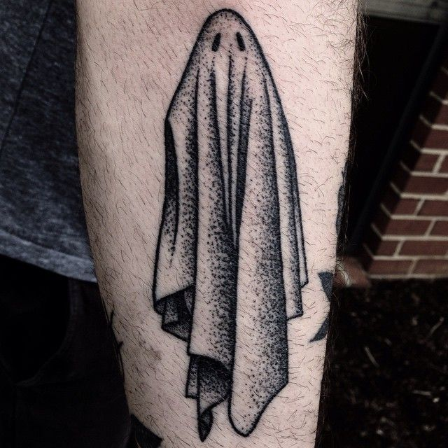 Ghost by Mike Adams of Homestead Tattoo in Frederick, MD.