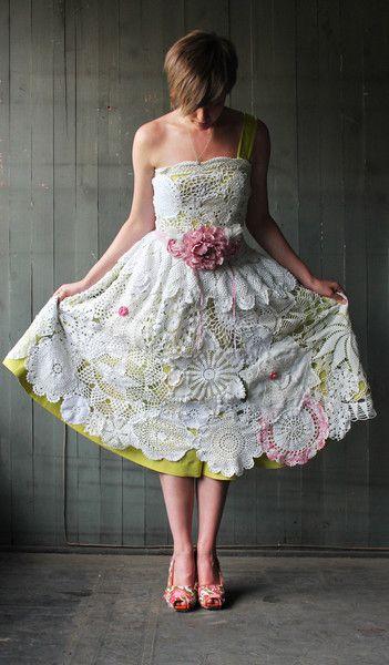 diy Handmade, Vintage Doily Wedding Dress