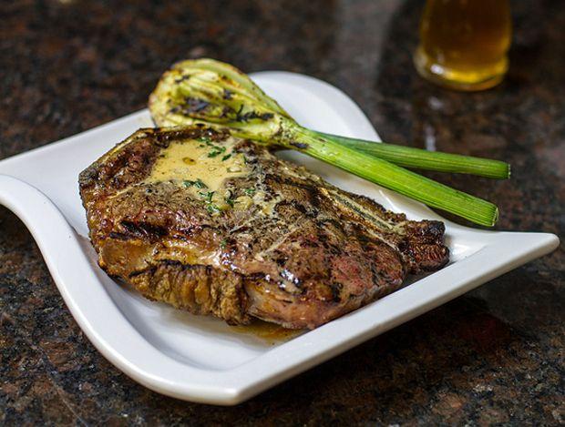 Bone-in-Strip-Steak-with-Bourbon-Cream-Sauce Recipe - RecipeChart.com #Beef #MainDish #Tasty
