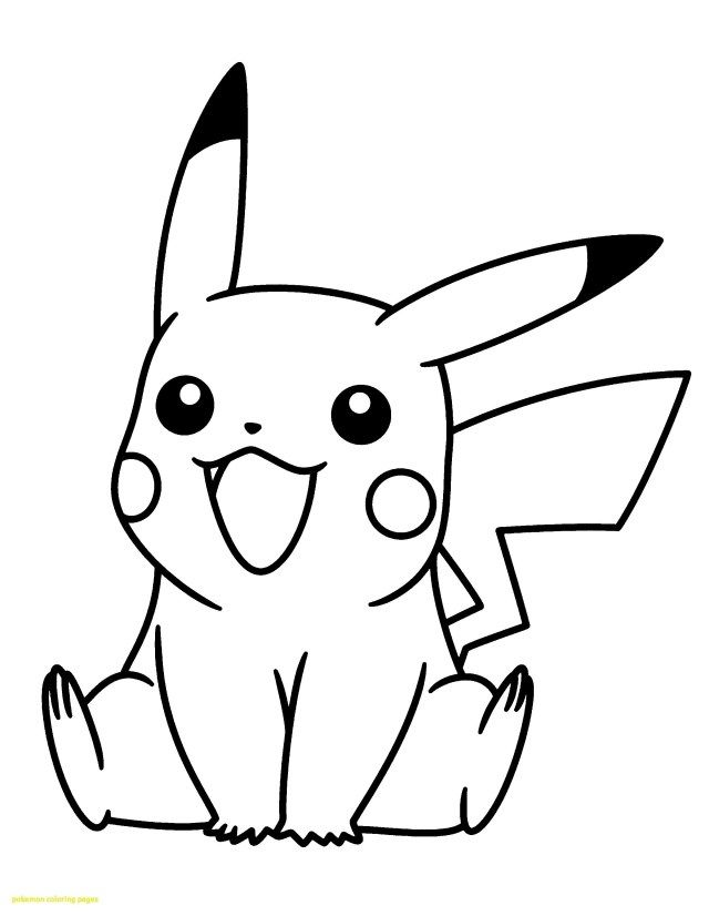 Easy Pokemon Coloring Pages : pokemon, coloring, pages, Inspiration, Image, Printable, Pokemon, Coloring, Pages, Entitlementtrap.com, Pikachu, Page,, Kitty, Coloring,