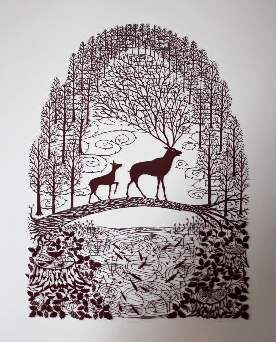 Although this is paper cutting i 39 m going to wood burn for Beautiful paper cutting art
