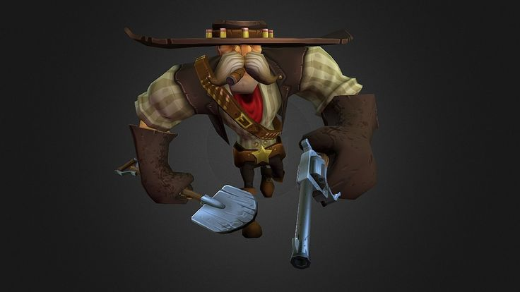 Low poly Cowboy character by timmoreels