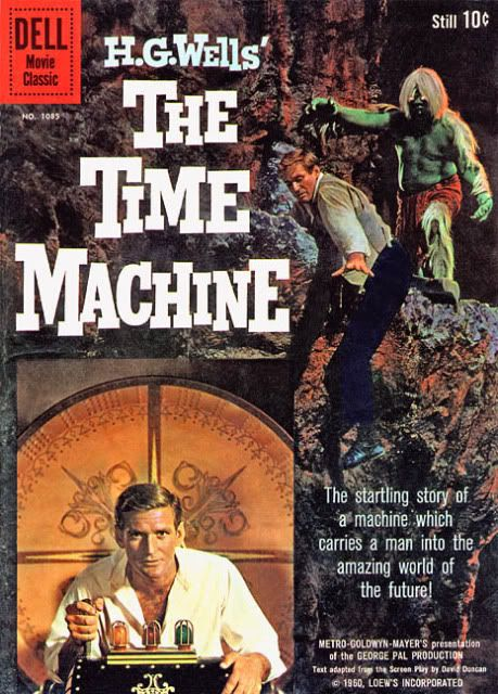 """The Time Machine""  1960 Starring Rod Taylor, Alan Young, Yvette Mimieux, Sebastian Cabot, Tom Helmore Release Date 1960 Run time 103 min Genre Science Fiction Director(s): George Pal The H.G. Wells classic, Rod Taylor stars as George, a young scientist fascinated with the concept of time travel. He builds a time machine and travels to the future."