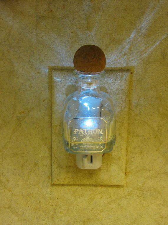 Grownup nightlight #patron#tequila#nightlight  Patron Silver Tequila Glass Night Light by MRLEnterprises on Etsy, $14.95