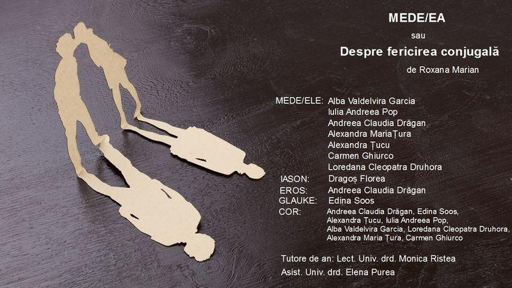 În cadrul Festivalului Studenților Artiști, organizat de Universitatea de Arte din Târgu-Mureș între 27 februarie și 4 martie, vor avea loc două spectacole realizate de studenții-actori ai anului III licență de la secția română,   #Mede/ea sau Despre fericirea conjugală #Medeea #Roxana Marian #Târgu-Mureș #Universitatea de Arte