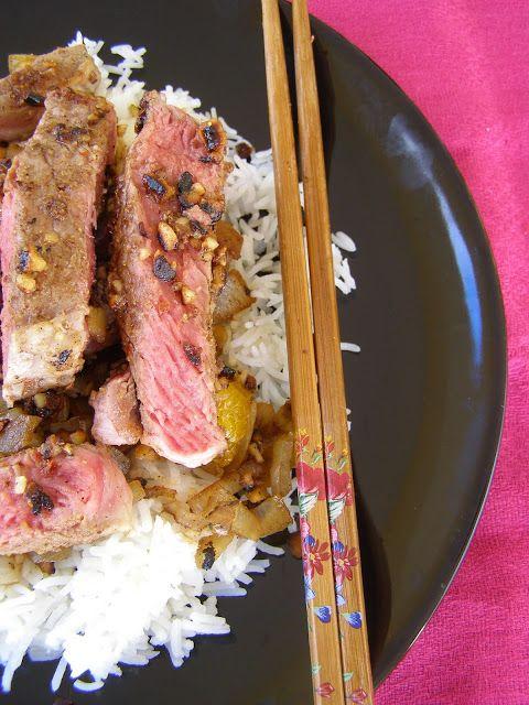 besos de canela y menta: Solomillo de ternera al aroma de Sichuan
