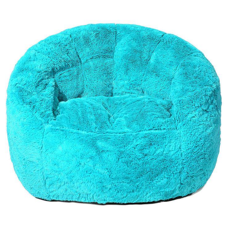 Faux Fur Bean Bag Chair - Teal #IdeaNuova