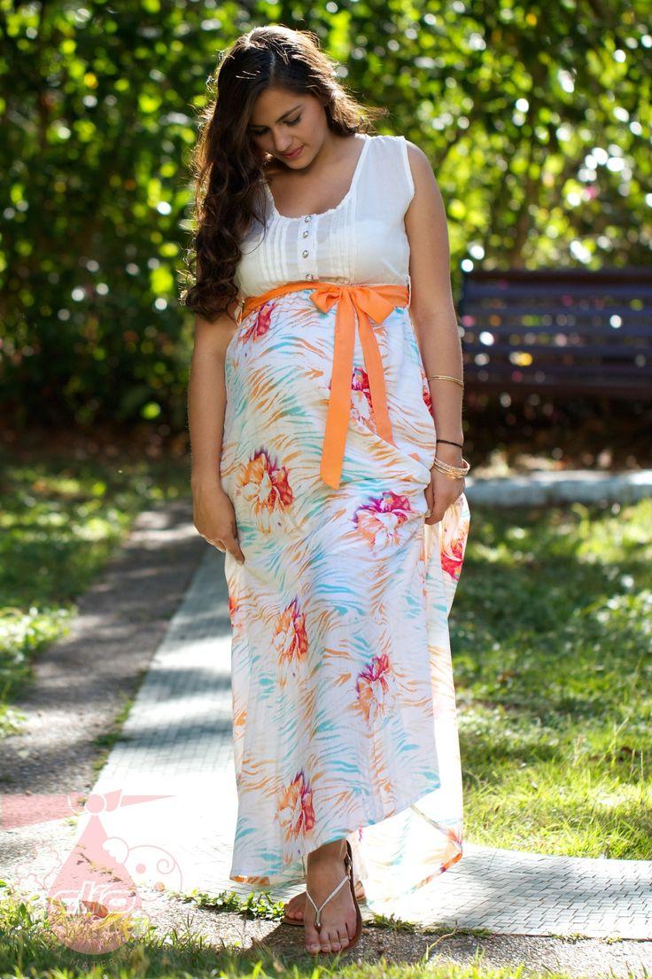 #Vestido #materno con diseño para fiesta. #Ropa #moderna para el #embarazo