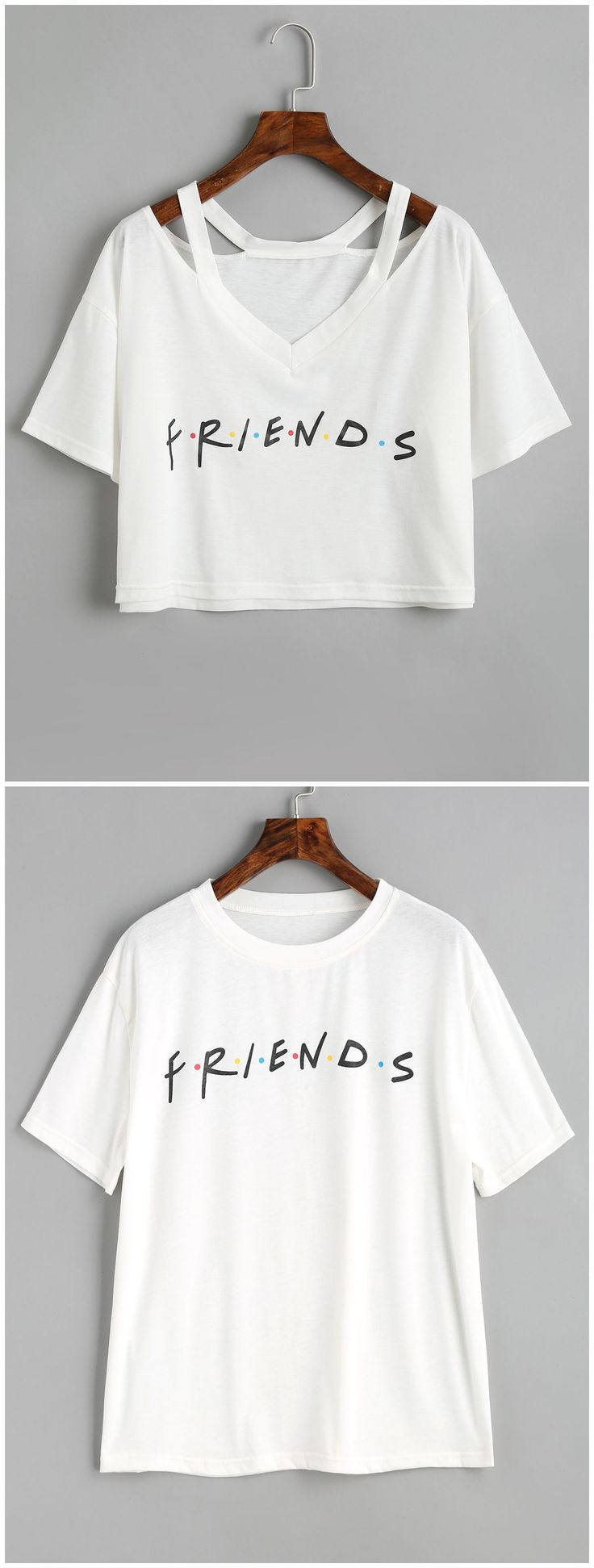Up to 80% OFF! Contrasting Dots Letter T Shirt. #Zaful #Tops zaful,zaful outfits,tops,womens tops,long sleeve tops,blouse,blouse outfit,off shoulder blouse,embroidered blouse,floral blouse,shirts,T-shirt,Tees,tank tops,crop top,outfits,women fashion,summer outfits,spring outfits,spring fashion,girl clothing,outfit ideas,clothes,clothing,casual,casual outfits,2018 fashion,2018 trends,christmas2017,christmas outfits,xmas,New Year Eve, New Year 2017.@zaful Extra 10% OFF Code:ZF2017
