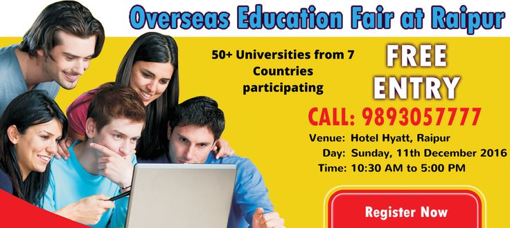 Overseas Education #Fair #Raipur: 50+ Universities from 7 Countries participating. Free Entry. Register Today: https://goo.gl/CZLSCN