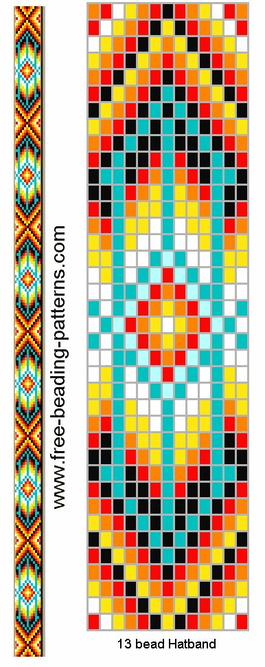 bead loom belt hat band pattern