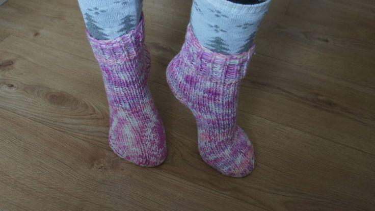 №16 Ciorapi tricotați ca la bunica cu 4-5 andrele