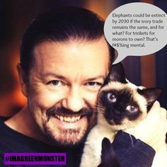 10 Outrageously Awesome Quotes From Ricky Gervais That Prove He Is a Bonafide Animal Lover! – More at http://www.GlobeTransformer.org