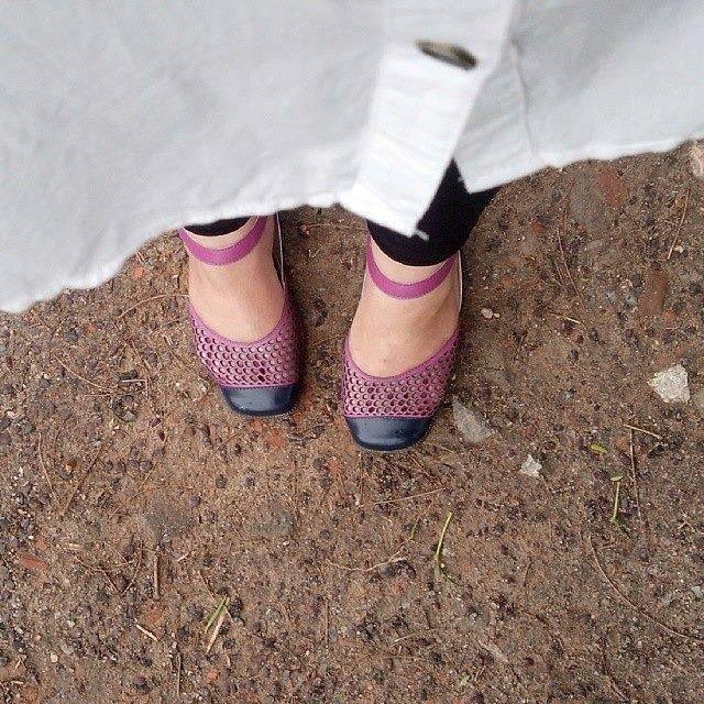 Foto enviada pela comparsa Joice Roddrigues com o seu sapato Cerc!