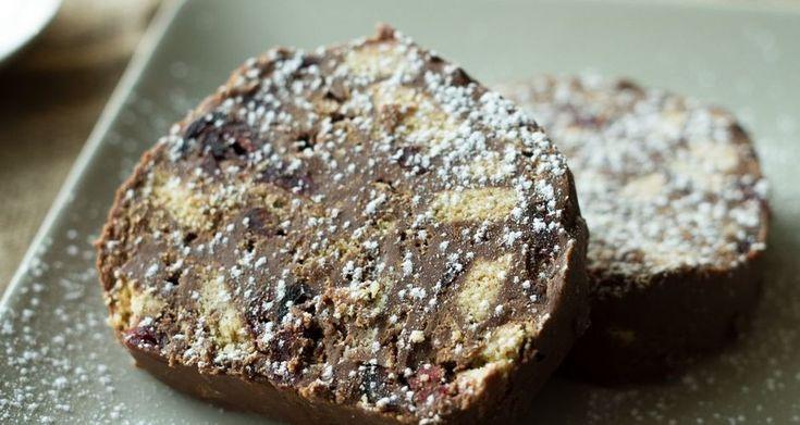 Κορμός με σοκολάτα, ταχίνι και μέλι