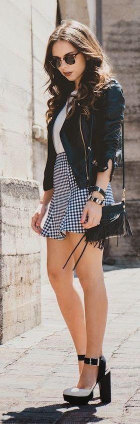 Gingham Skirt Streetstyle by Nany's Klozet