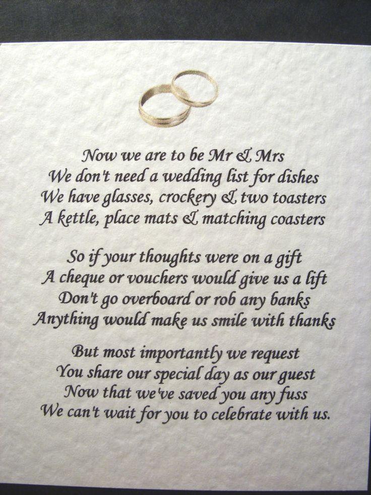 Wedding Invitation Wording For Monetary Gifts