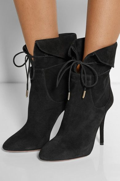 Aquazzura + Olivia Palermo suede ankle boots $810