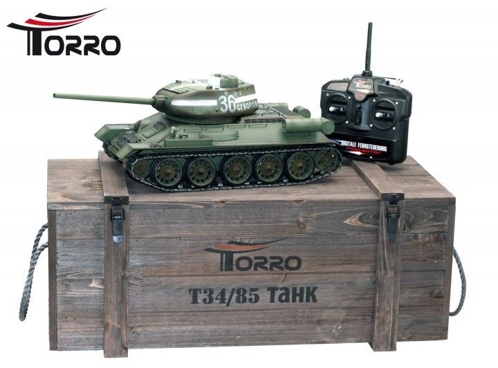 T34/85 RC Panzer 2.4 GHz-Edition Metal - RC Kampvogn  http://www.toytrade.dk/torro/10816-t3485-rc-panzer-24-ghz-edition-metal-rc-kampvogn.html