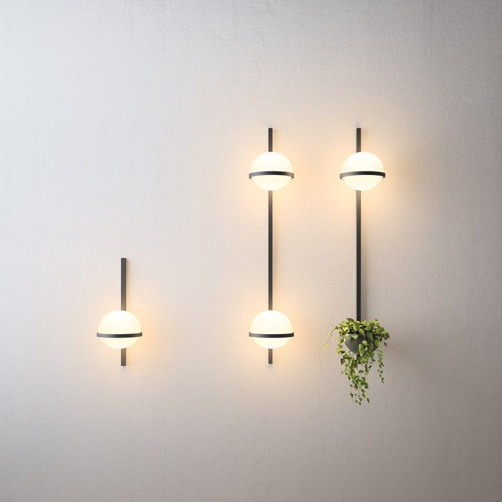Minimal wall light, only lines and spheres.