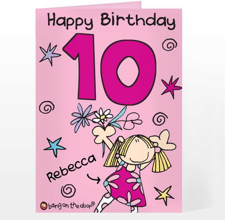Personalised Bang On The Door Girls Age Card